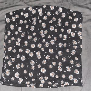 Tube Top with flowers